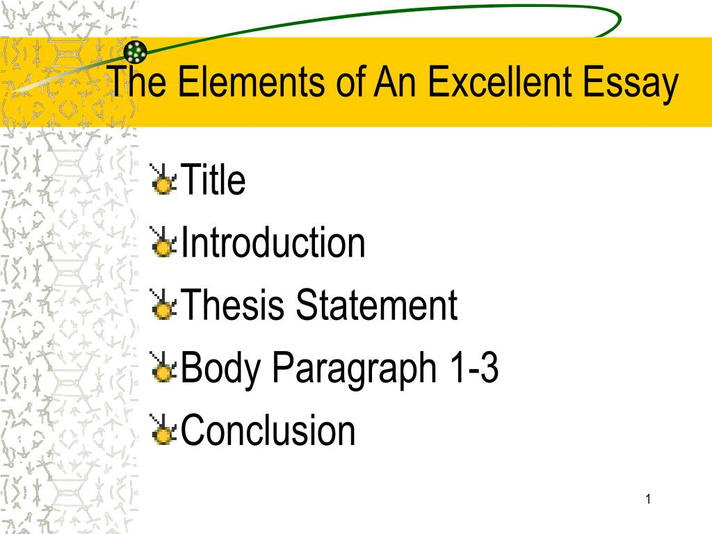 define elements of an essay