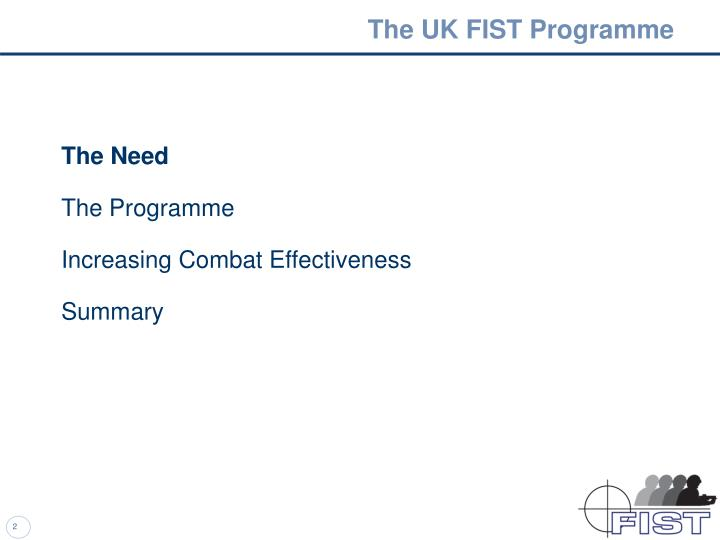 The uk fist programme1