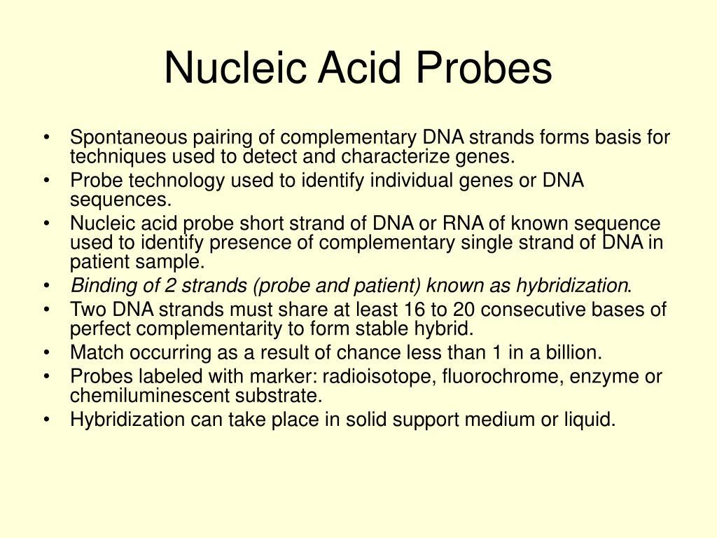 Nucleic Acid Probes