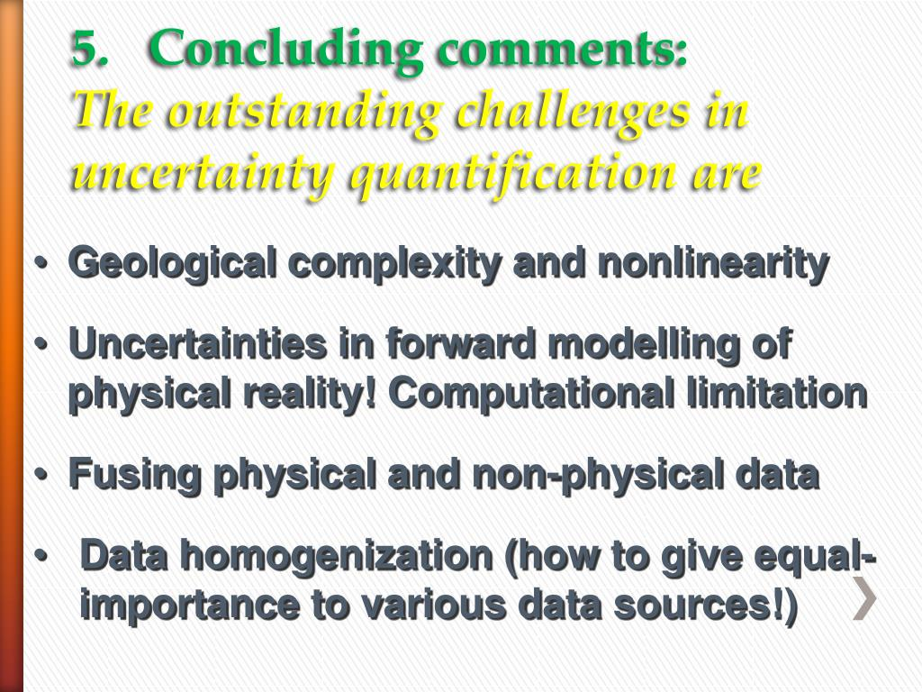 5.   Concluding comments: