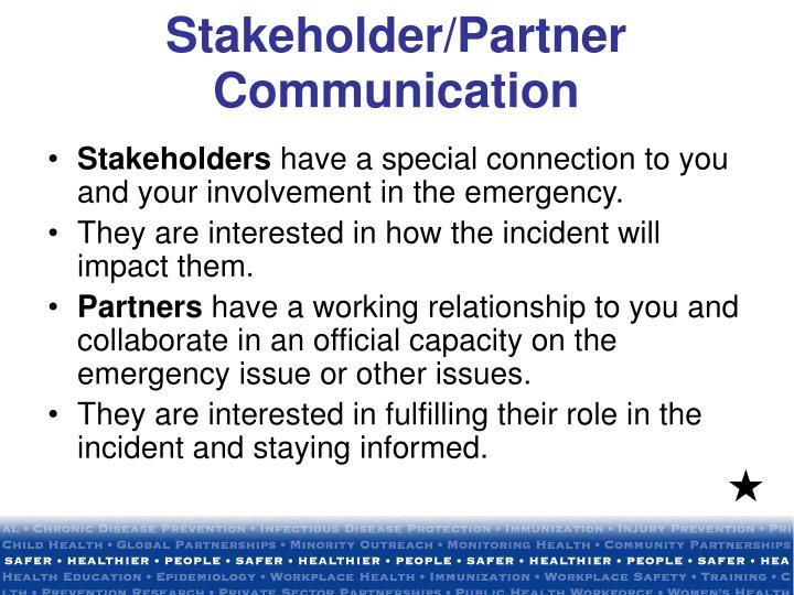 Stakeholder partner communication3