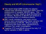 obesity and mc4r chromosome 18q21