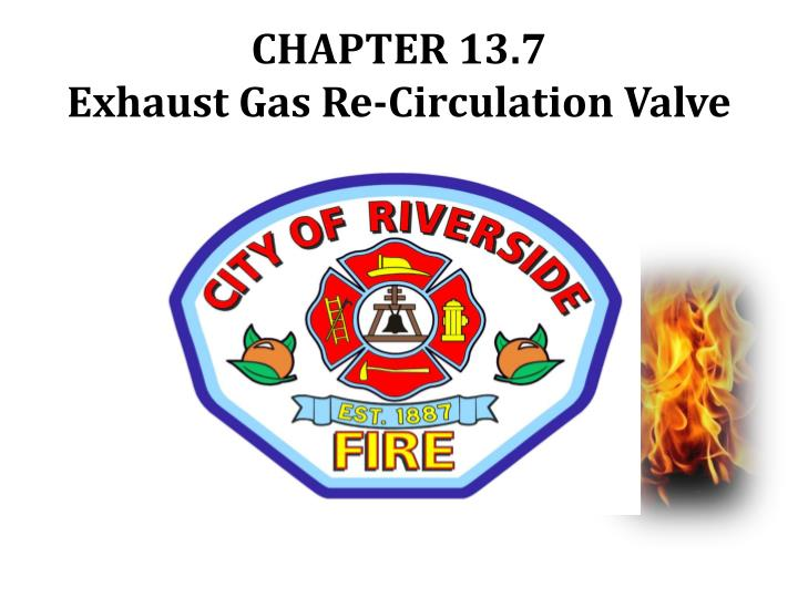 chapter 13 7 exhaust gas re circulation valve n.