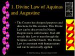 1 divine law of aquinas and augustine