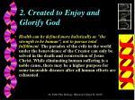 2 created to enjoy and glorify god
