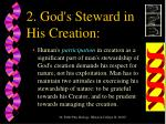 2 god s steward in his creation