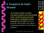 4 created to be god s steward