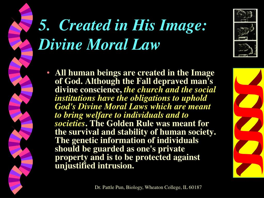 5.  Created in His Image: Divine Moral Law
