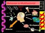 behavior is multifactorial