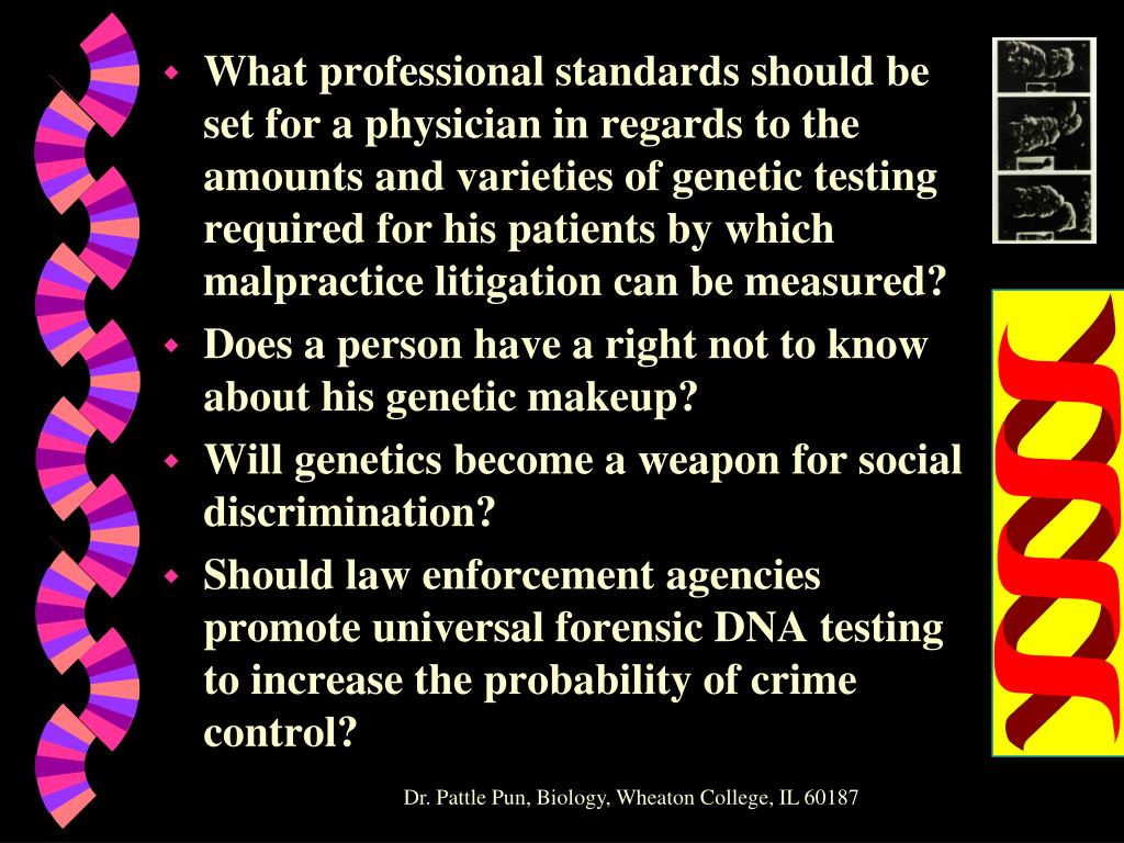 What professional standards should be set for a physician in regards to the amounts and varieties of genetic testing required for his patients by which malpractice litigation can be measured?
