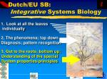 dutch eu sb integrative systems biology