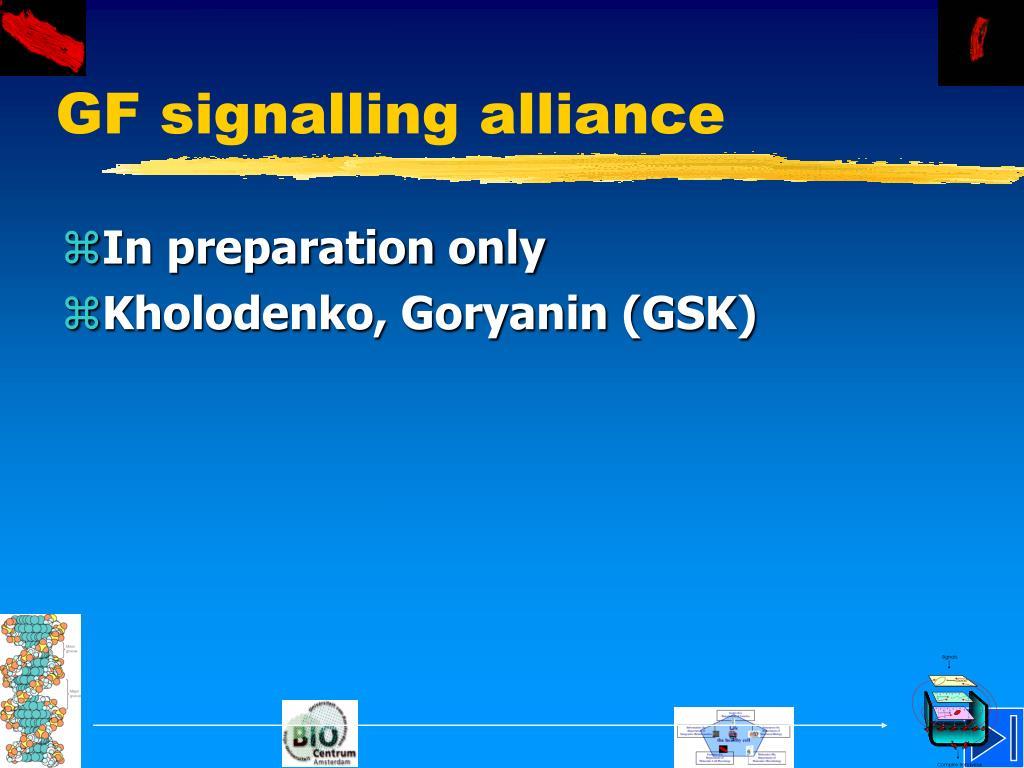 GF signalling alliance