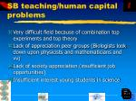 sb teaching human capital problems