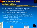 wp8 dutch wp deliverables