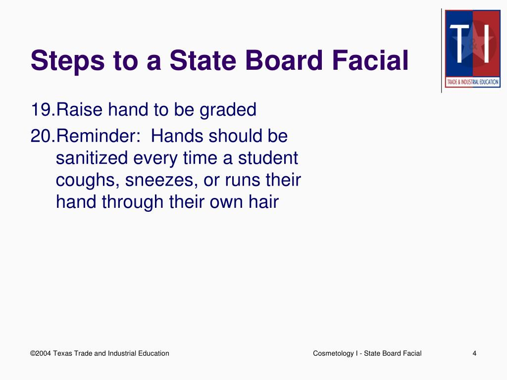 Steps to a State Board Facial