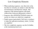 low complexity elements