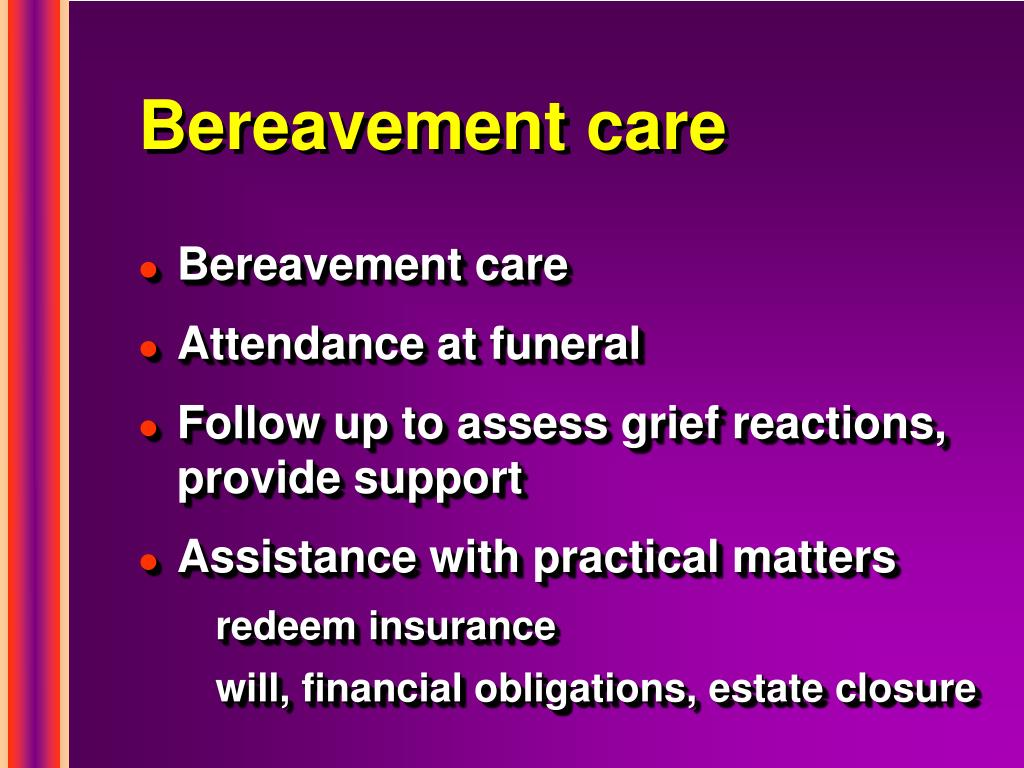 Bereavement care