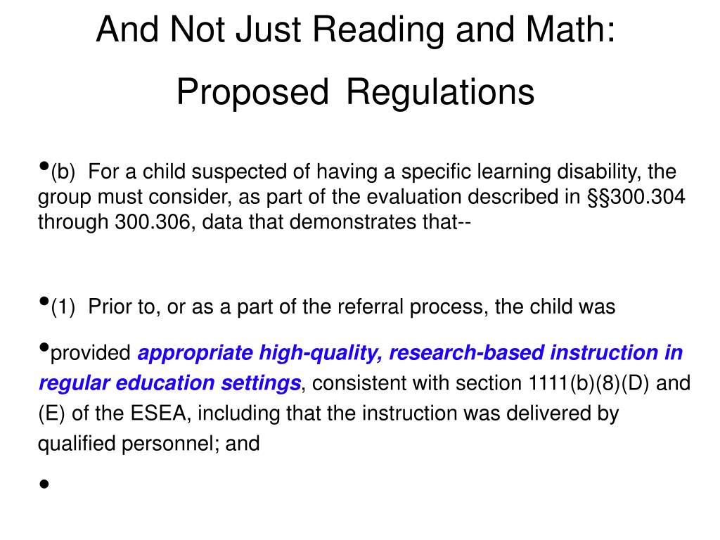 And Not Just Reading and Math: