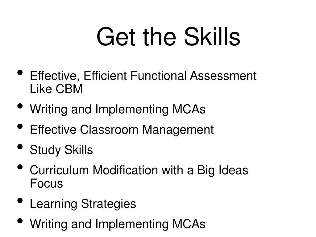 Get the Skills
