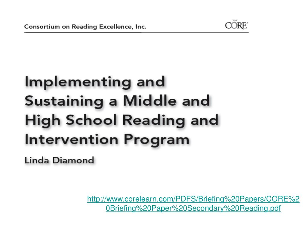 http://www.corelearn.com/PDFS/Briefing%20Papers/CORE%20Briefing%20Paper%20Secondary%20Reading.pdf