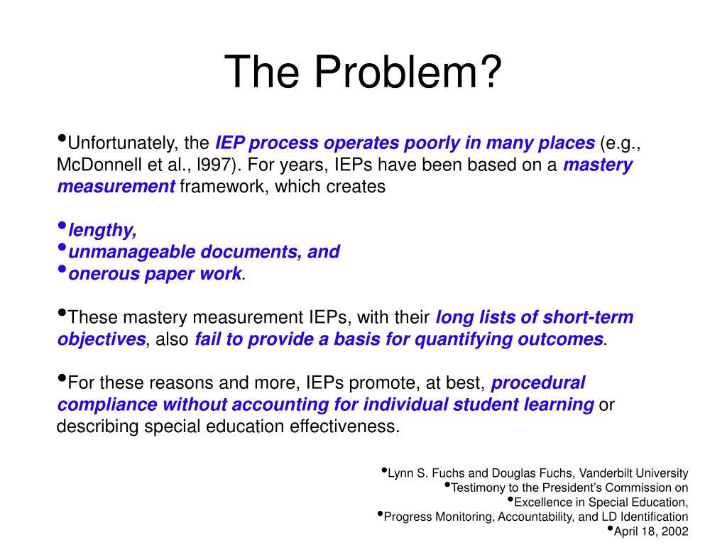 The Problem?