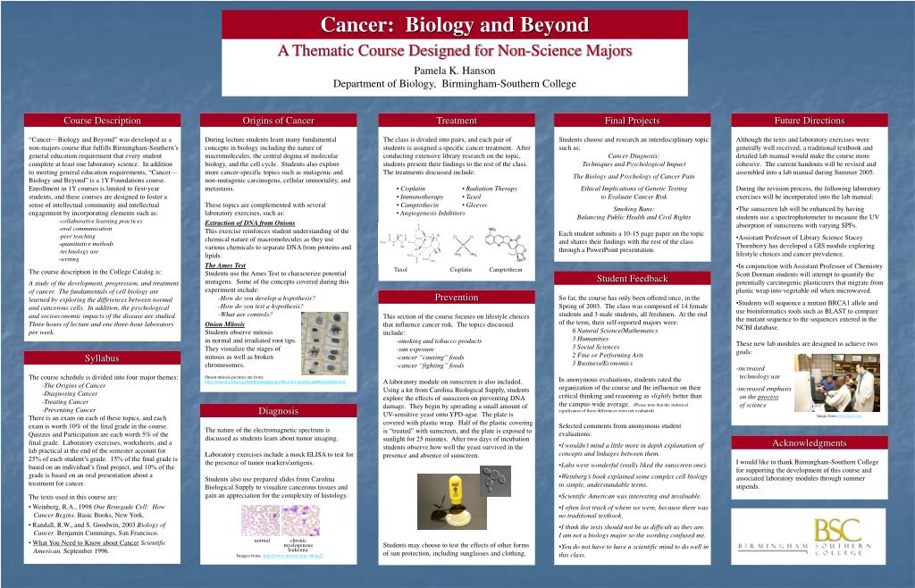 Cancer:  Biology and Beyond