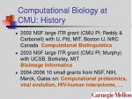 computational biology at cmu history