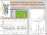 evolutionary methods for discovering sequence function mapping rosenfeld