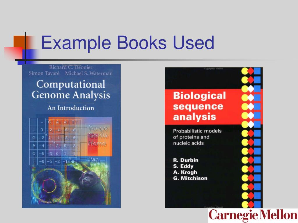 Example Books Used