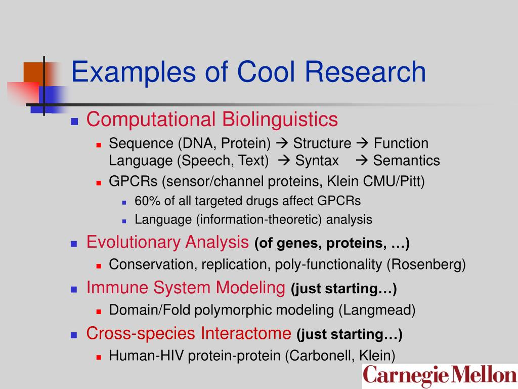 Examples of Cool Research