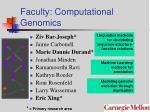 faculty computational genomics