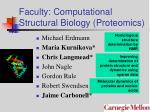 faculty computational structural biology proteomics
