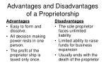 advantages and disadvantages of a proprietorship