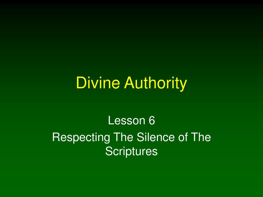 divine authority l.