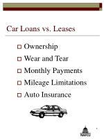 car loans vs leases