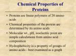 chemical properties of proteins