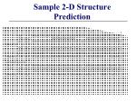 sample 2 d structure prediction