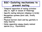 bsc isolating mechanisms to prevent mating
