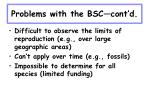problems with the bsc cont d