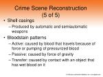 crime scene reconstruction 5 of 5