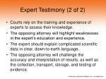 expert testimony 2 of 2