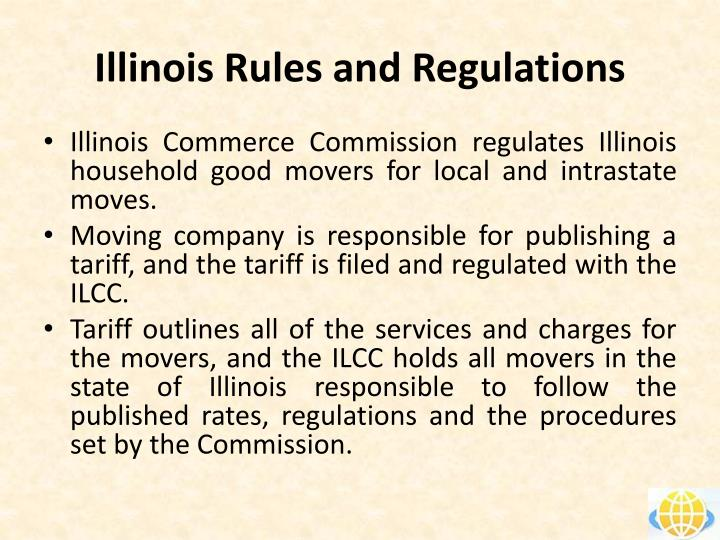 Illinois rules and regulations