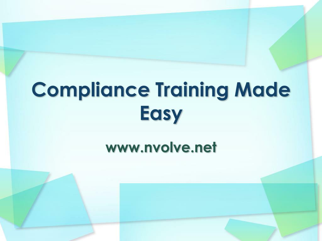 Compliance Training Made Easy