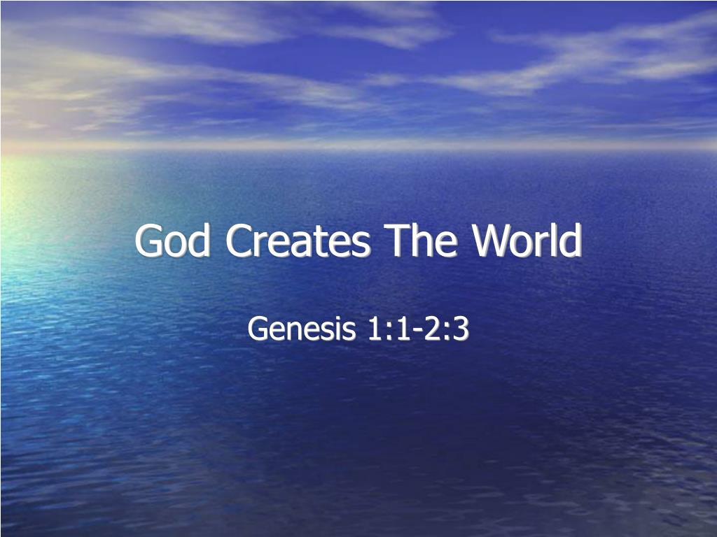 Genesis 1:1-2:3