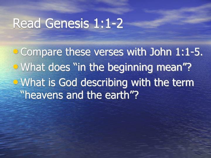 Read genesis 1 1 2