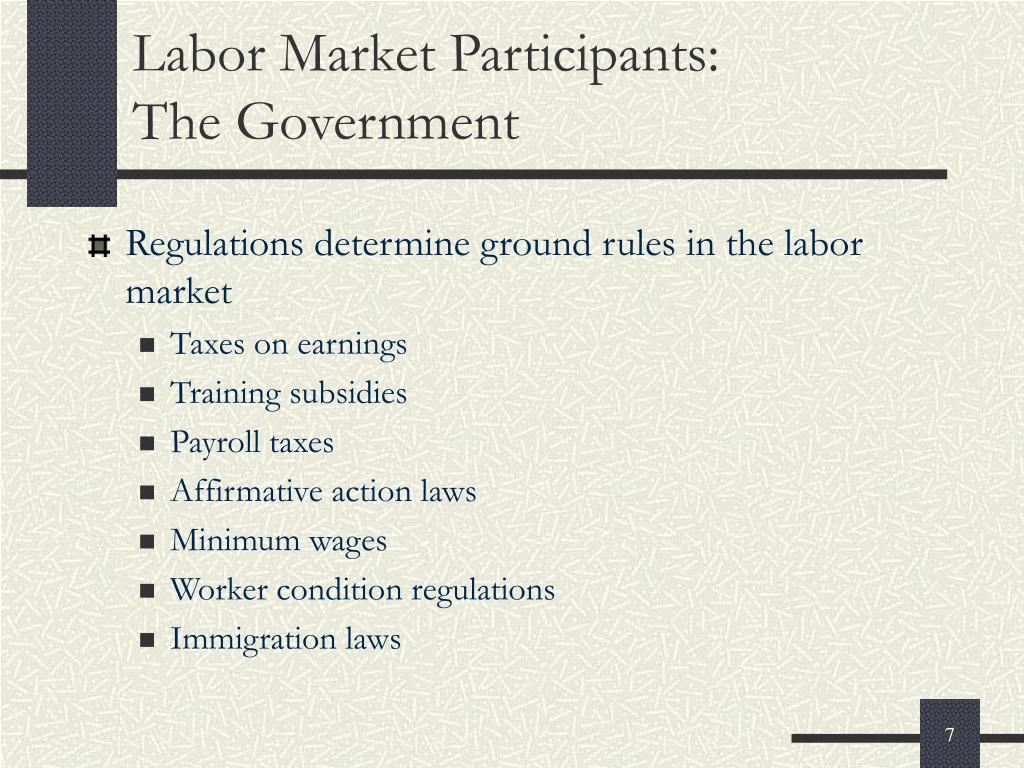 Labor Market Participants: