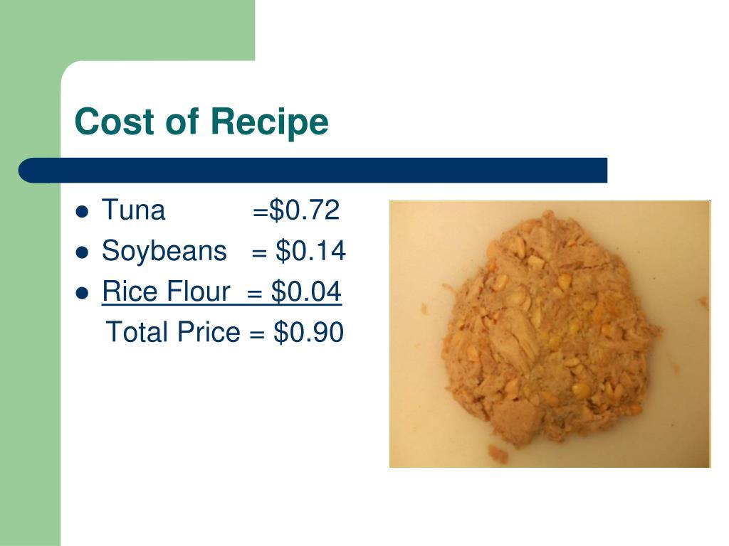 Tuna           =$0.72