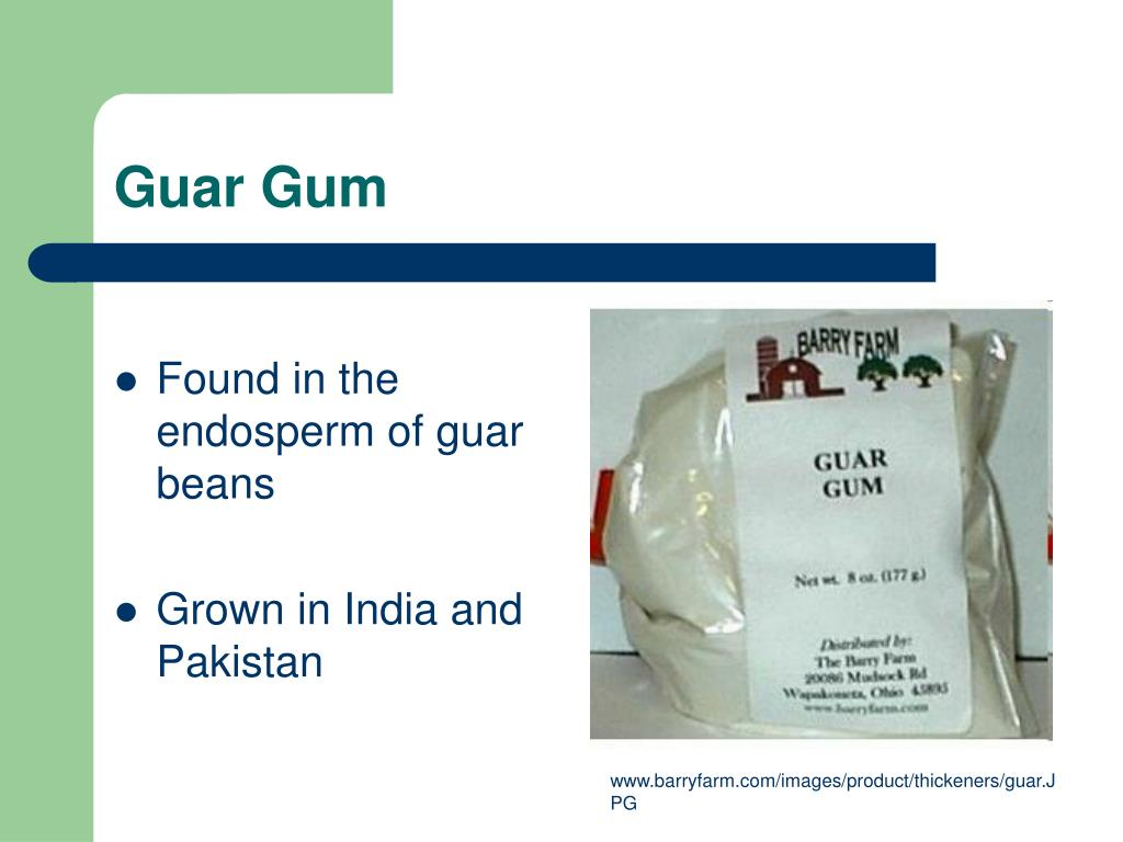 Found in the endosperm of guar beans