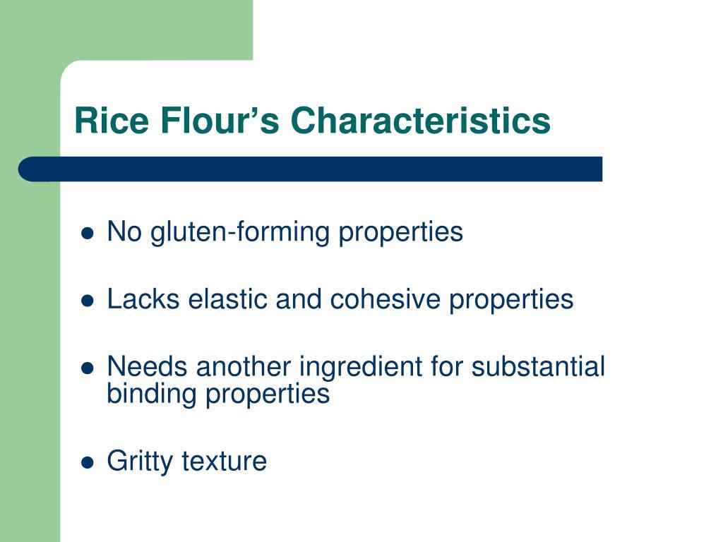 Rice Flour's Characteristics