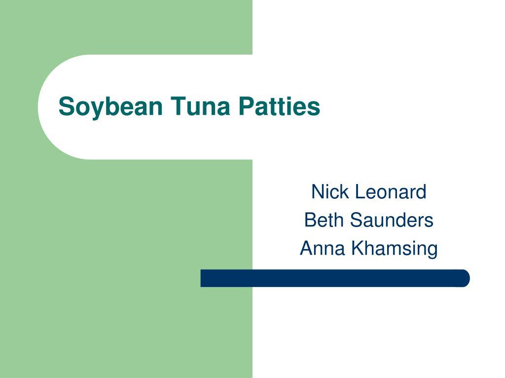 Soybean Tuna Patties